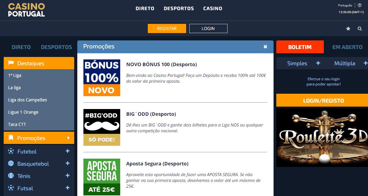 site de jogo online licenciados em Portugal