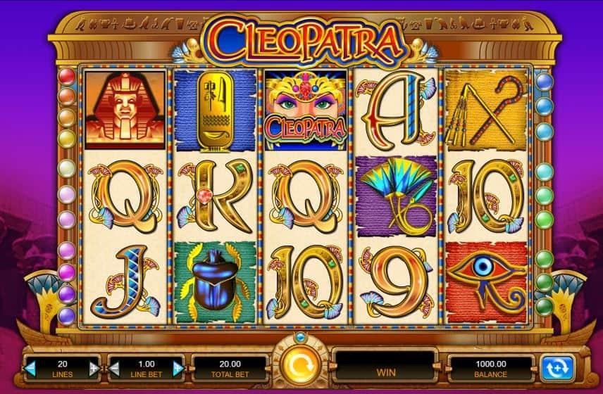 Símbolos, gráficos, sons e animações de Cleopatra