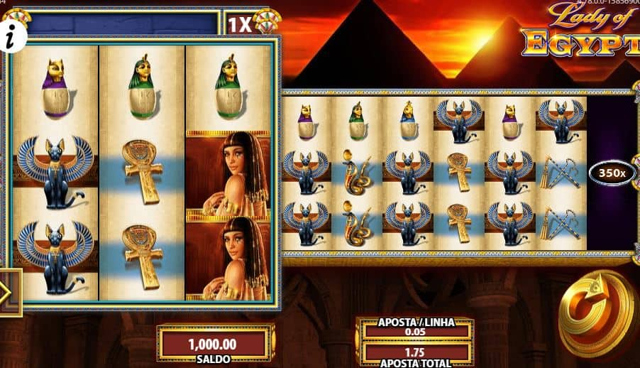 Símbolos, gráficos, sons e animações de Lady of Egypt