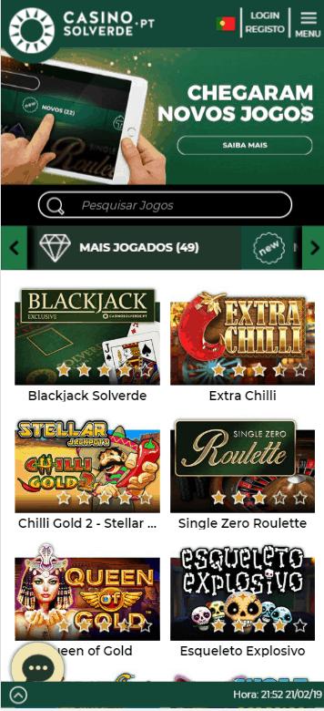 Casino Solverde mobile