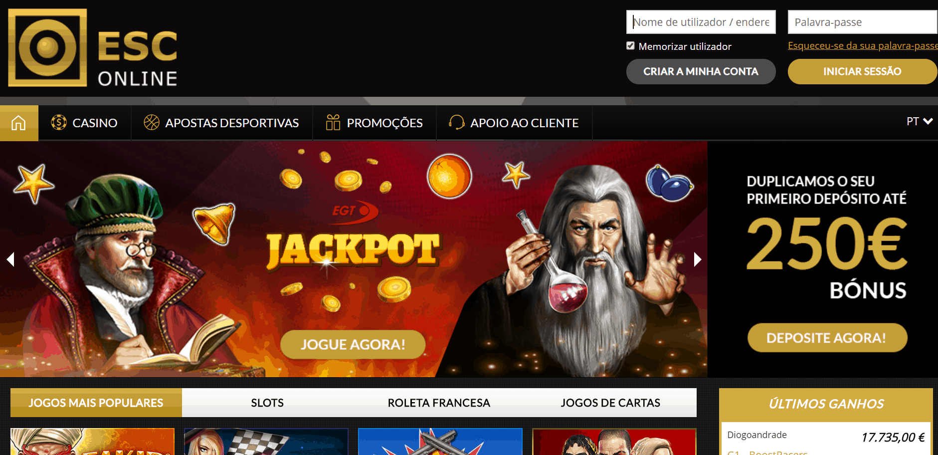 Casino Estoril desktop