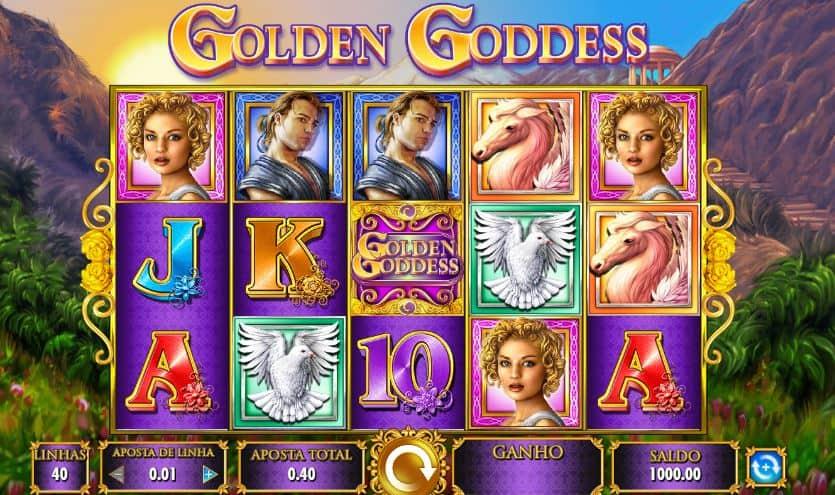 Símbolos, gráficos, sons e animações de Golden Goddess
