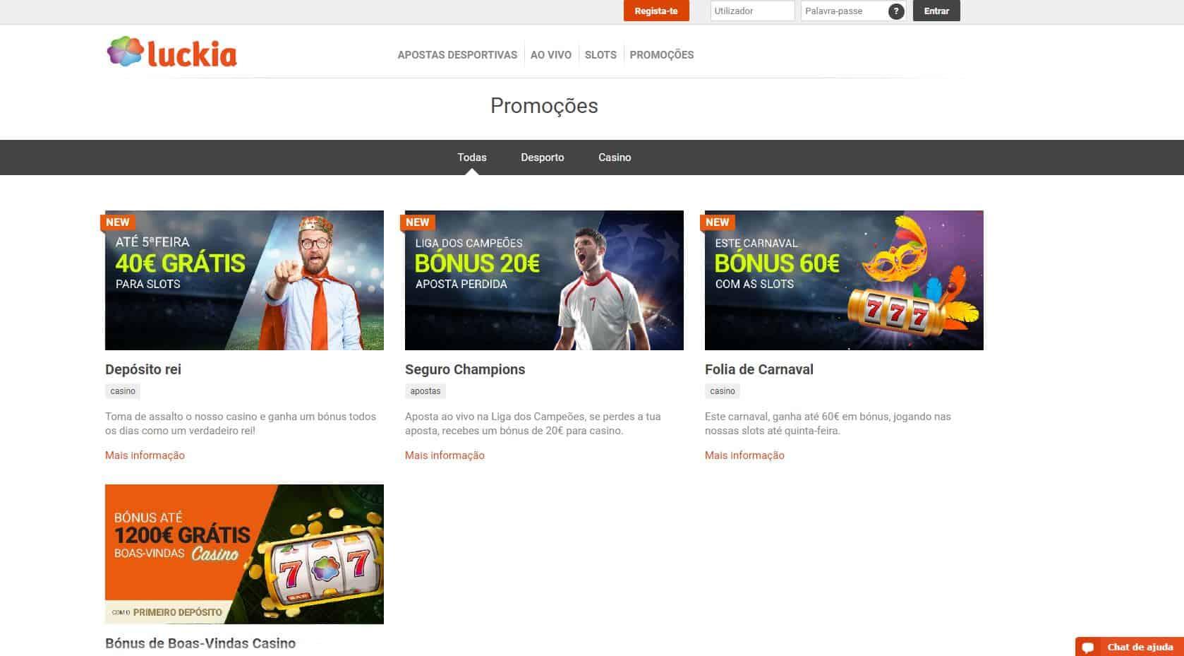 O Luckia oferece aos seus jogadores diversos bónus e promoções.