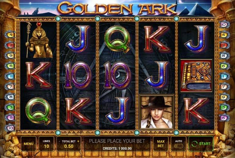 Símbolos, gráficos, sons e animações de Golden Ark